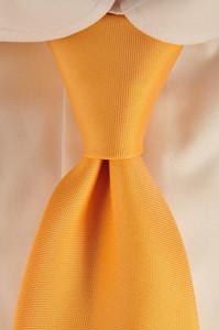 Luigi Borrelli Napoli Tie Silk 58 1/2 x 3 1/4 Orange Solid 05TI0114