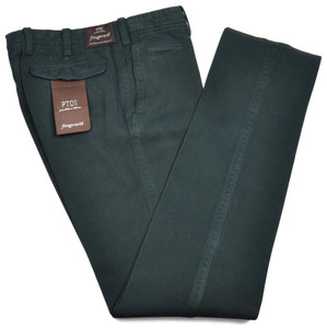 PT01 Pants Fitzgerarld Slim Fit Washed Cotton Twill 40 56 Green 32PT0118