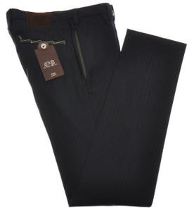 PT01 Pantaloni Torino Pants Slim Fit Cotton Wool 32 48 Blue Green 32PT0110