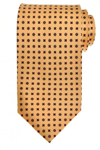 E. G. Cappelli Napoli Tie Silk 58 x 3 5/8 Yellow Red Geometric 08TI0085