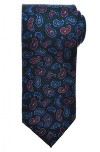 E. G. Cappelli Unlined Tie Silk 59 x 3 1/4 Green Blue Red Paisley 08TI0090