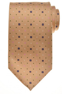E. G. Cappelli Napoli Tie Silk 58 3/4 x 3 5/8 Brown Purple Geometric 08TI0120