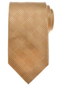 Luigi Borrelli Napoli Tie Silk 58 1/4 x 3 1/4 Brown Beige Plaid 05TI0222