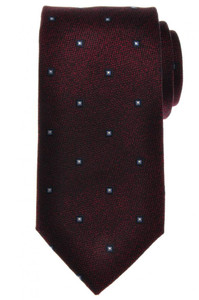 Battisti Napoli Tie Silk 58 1/2 x 3 1/4 Burgundy Blue Geometric 41TI0104