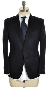Ermenegildo Zegna Sport Coat Blazer Luxury Cashmere 48S 58C Navy Blue 10SC0108