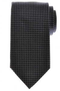 Battisti Napoli Tie Silk Wool 57 x 3 1/4 Navy Blue Gray Geometric 41TI0112