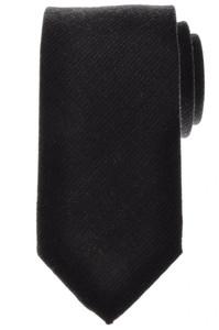 Battisti Napoli Tie Silk Wool 58 1/2 x 3 1/4 Gray Solid