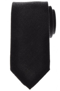 Battisti Napoli Tie Silk Wool 58 1/2 x 3 1/4 Gray Solid 41TI0111