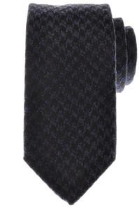 Battisti Napoli Tie Silk Wool 59 x 3 1/4 Blue Black Check