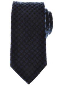 Battisti Napoli Tie Silk Wool 58 x 3 3/8 Blue Black Check