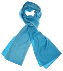 """Cruciani Scarf Luxury Cashmere Silk 67"""" x 14"""" Aqua Blue Solid 42SF0123"""