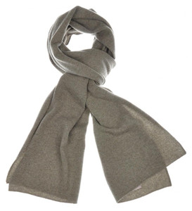 "Cruciani Scarf Luxury Cashmere 70"" x 15"" Olive Green Solid 42SF0122"
