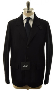 Allegri Outerwear Coat Jacket Sport Coat Wool Blend 50 Medium Black 44OT0109