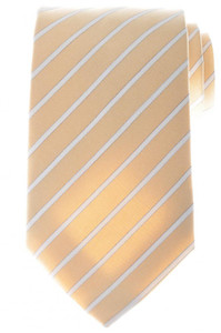 Ermenegildo Zegna Tie Silk Cotton 57 x 3 3/8 Brown White Stripe 10TI0147