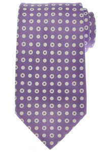 Ermenegildo Zegna Tie Silk 58 1/2 x 3 3/8 Purple White Geometric 10TI0165