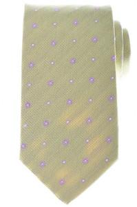 Luigi Borrelli Napoli Tie Silk 58 1/4 x 3 1/8 Green Purple Floral 05TI0337