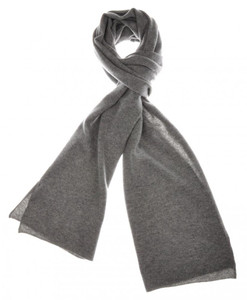 "Cruciani Scarf Luxury Cashmere 70"" x 15"" Gray Solid 43SF0143"