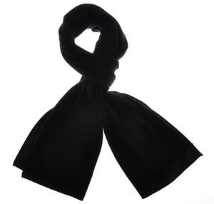 """Cruciani Scarf Luxury Cashmere 70"""" x 15"""" Black Solid 42SF0129"""