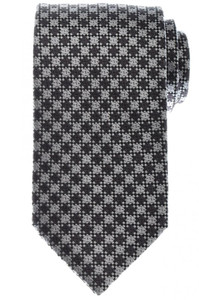 Tom Ford Tie Woven Silk Gray Black Check 14TI0194