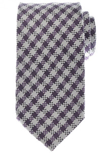 Tom Ford Tie Woven Silk 58 3/4 x 3 1/4 Purple White Black Check 14TI0178