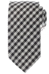 Tom Ford Tie Woven Silk 58 1/2 x 3 1/8 Dk. Brown White Black Check 14TI0189