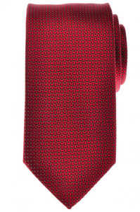 Battisti Napoli Tie Silk Red Yellow Geometric 41TI0132
