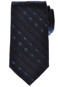 Battisti Napoli Tie Silk Blue Green Geometric 41TI0162
