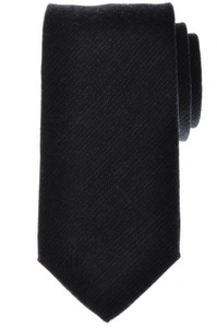 Battisti Napoli Tie Silk Wool 58 x 3 1/4 Charcoal Gray Solid 41TI0158