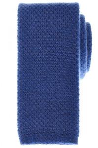 Cesare Attolini Napoli Cashmere Knit Tie 57 x 2 1/2 Blue Solid