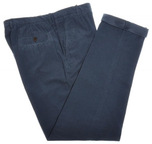 Brunello Cucinelli Pants Cotton Corduroy 40 56 Washed Blue Solid 02PT0136