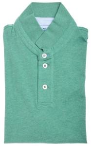 """Brunello Cucinelli Polo Shirt Cotton """"Slim Fit"""" 48 Small Green 02PL0114"""