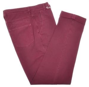 Brunello Cucinelli Pants Jeans Cotton Canvas 32 48 Burgundy Red 02PT0160