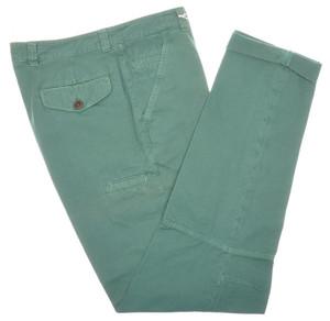 Brunello Cucinelli Pants Cotton Canvas Knee Detail 34 50 Green 02PT0153