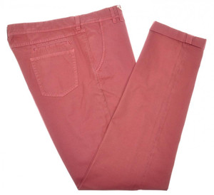 Brunello Cucinelli Pants Jeans Cotton Twill 40 56 Washed Red Pink 02PT0171