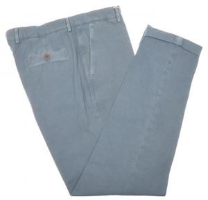 Brunello Cucinelli Pants Cotton Canvas 40 56 Washed Blue 02PT0168