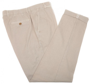 Brunello Cucinelli Pants Cotton Twill 40 56 Washed Brown Solid 02PT0164