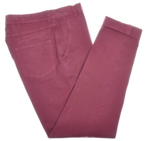 Brunello Cucinelli Jeans Pants Cotton Twill 32 48 Red Burgundy 02PT0191