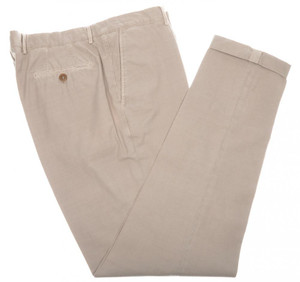 Brunello Cucinelli Pants Cotton Twill 40 56 Washed Khaki Brown 02PT0190