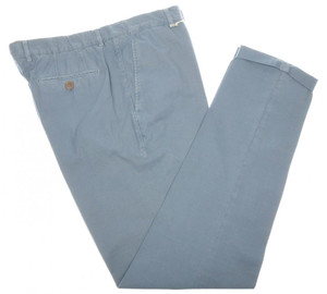 Brunello Cucinelli Pants Cotton Twill 40 56 Washed Blue 02PT0189