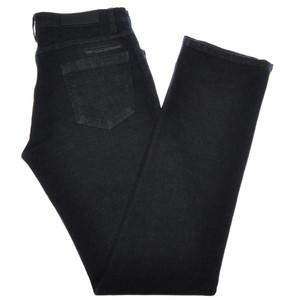 Ermenegildo Zegna Luxury Denim Jeans Cotton Stretch 31 47 Black 10JN0132