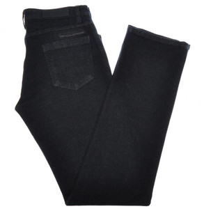 Ermenegildo Zegna Luxury Denim Jeans Cotton Stretch 30 46 Black 10JN0131