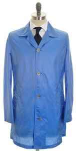 Kiton Jacket Outer Rain Coat Extra Light Weight 50 Medium Blue 01OT0129