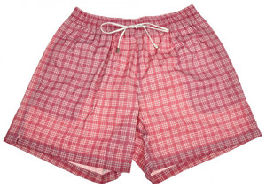 Brioni Luxury Swimwear Swim Suit Trunks Cotton Nylon Medium Pink 03SW0102