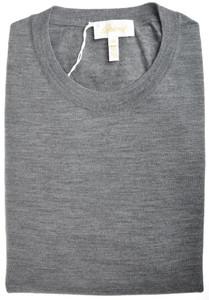 Brioni Sweater Crewneck Extrafine Wool 56 XXLarge Gray 03SW0148