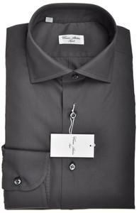 Cesare Attolini Napoli Dress Shirt Cotton 15 3/4 40 Gray Solid 09SH0105