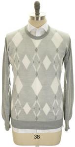 Brioni Sweater Crewneck Extrafine Cashmere Silk 58 XXXLarge Gray