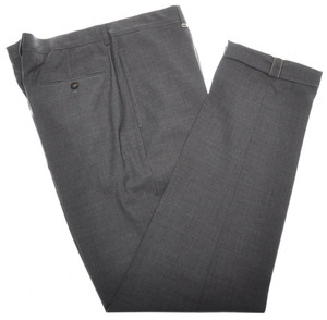 Brunello Cucinelli Pants Wool Zip-Fly 40 56 Gray Solid 02PT0194