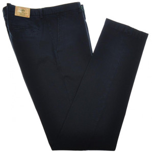 Luigi Borrelli Luxury Vintage Pants Cotton Stretch 32 48 Washed Blue 05PT0009N