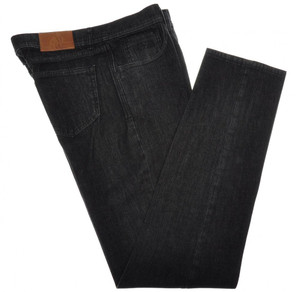 Luciano Barbera Luxury Jeans Cotton Cashmere Stretch 34 50 Black 48JN0115