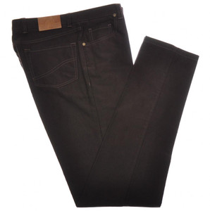 Luciano Barbera Luxury 5 Pocket Jeans Cotton 34 50 Dark Brown 48JN0131